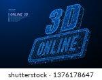 abstract polygonal light design ... | Shutterstock .eps vector #1376178647