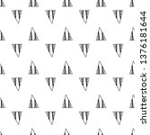 triangles. seamless black and... | Shutterstock . vector #1376181644