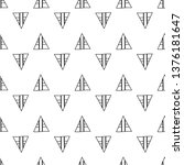 triangles. seamless black and... | Shutterstock . vector #1376181647