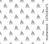 triangles. seamless black and... | Shutterstock . vector #1376181671