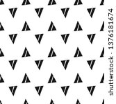 triangles. seamless black and... | Shutterstock . vector #1376181674