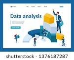 isometric data for analysis ... | Shutterstock .eps vector #1376187287