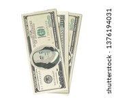 fake three hundreds usa dollars ... | Shutterstock . vector #1376194031