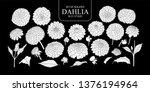 set of isolated white... | Shutterstock .eps vector #1376194964
