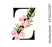 alphabet. letter z  monogram... | Shutterstock . vector #1376212787