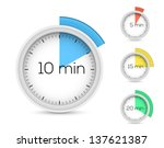 set of timers. 5  10  15  20...   Shutterstock .eps vector #137621387