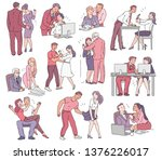 a set of situations of sexual... | Shutterstock .eps vector #1376226017