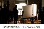 shooting studio behind the... | Shutterstock . vector #1376226701
