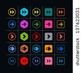 25 arrow sign icon set. set 08...