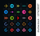 25 arrow sign icon set. set 04...