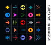 25 arrow sign icon set. set 01...