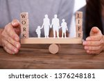 couple protecting work and life ... | Shutterstock . vector #1376248181