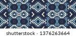 ikat geometric folklore... | Shutterstock .eps vector #1376263664