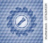 flashlight icon inside blue... | Shutterstock .eps vector #1376264234