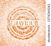 behaviour orange tile... | Shutterstock .eps vector #1376264261