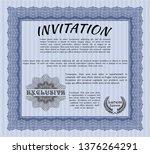 blue invitation. sophisticated... | Shutterstock .eps vector #1376264291