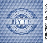 byte blue badge with geometric... | Shutterstock .eps vector #1376264327