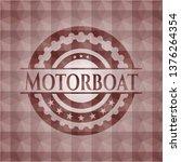 motorboat red emblem or badge... | Shutterstock .eps vector #1376264354