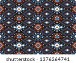 ikat geometric folklore... | Shutterstock .eps vector #1376264741