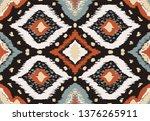 ikat geometric folklore... | Shutterstock .eps vector #1376265911