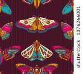 seamless pattern with... | Shutterstock .eps vector #1376266001