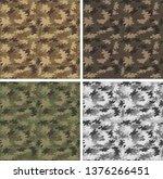 camouflage seamless pattern set.... | Shutterstock .eps vector #1376266451