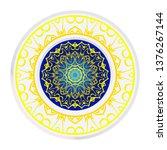 luxury art deco floral pattern. ... | Shutterstock .eps vector #1376267144
