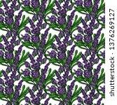 seamless pattern of purple... | Shutterstock .eps vector #1376269127