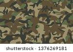 camouflage pattern background.... | Shutterstock .eps vector #1376269181
