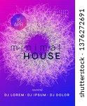 dj party. cool concert... | Shutterstock .eps vector #1376272691