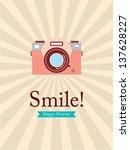 smile camera poster | Shutterstock .eps vector #137628227