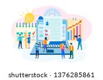 the concept of filling the... | Shutterstock .eps vector #1376285861
