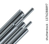set of steel or aluminum pipes  ...   Shutterstock .eps vector #1376288897