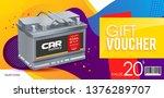 battery car. coupon. a discount.... | Shutterstock .eps vector #1376289707