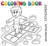 Coloring Book Kids Play Theme ...