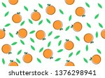 seamless pattern with orange... | Shutterstock .eps vector #1376298941
