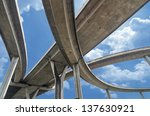 elevated expressway. the curve... | Shutterstock . vector #137630921