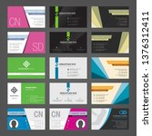 set of creative business cards... | Shutterstock .eps vector #1376312411