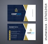 creative business cards... | Shutterstock .eps vector #1376312414