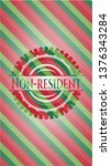 non resident christmas colors... | Shutterstock .eps vector #1376343284