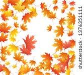 maple leaves vector background  ... | Shutterstock .eps vector #1376351111