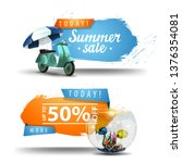 two summer sale clickable... | Shutterstock .eps vector #1376354081