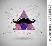 Hipster Mustaches Space...