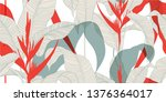 seamless floral pattern in... | Shutterstock .eps vector #1376364017