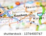 Goshen. New York. USA on a geography map