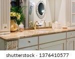 Retro Golden Faucet In The...