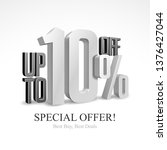 up to 10  off special offer... | Shutterstock .eps vector #1376427044