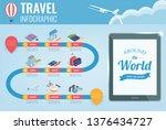 travel infographic in isometric ... | Shutterstock .eps vector #1376434727