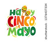 cinco de mayo design with... | Shutterstock .eps vector #1376437334