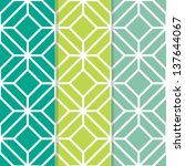 set of 3 seamless geometric... | Shutterstock .eps vector #137644067
